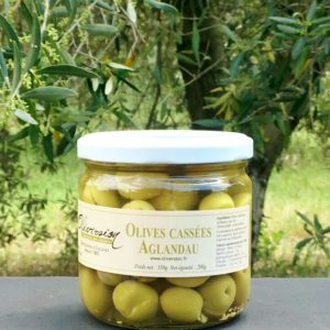 Olives vertes aglandau aromatisées