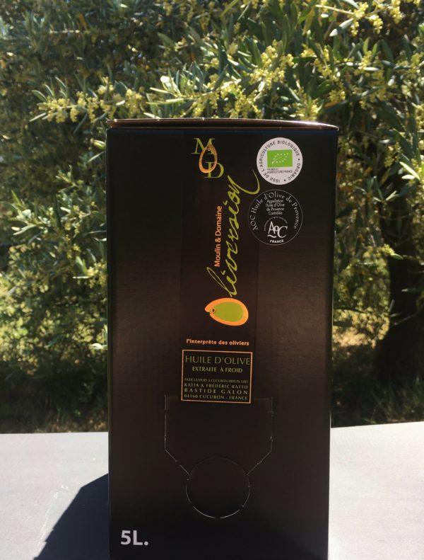 Huile d'olive fruité vert AOC