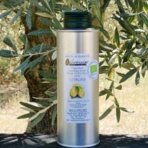 Huile d'olive bio aux citrons