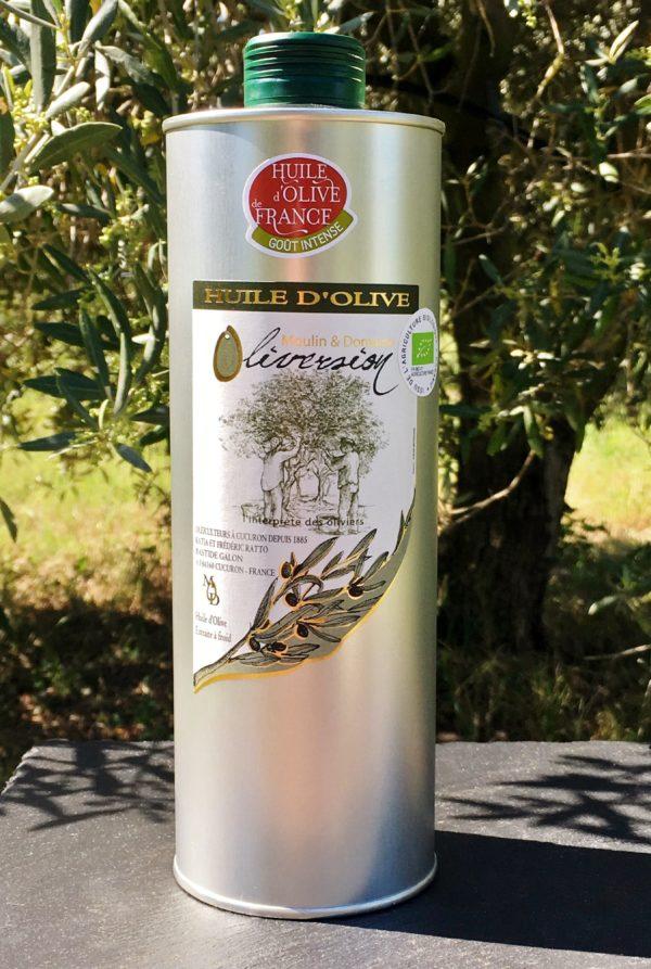 Huile d'olive fruité vert intense