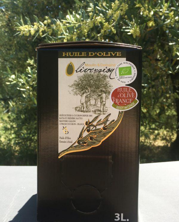 Huile d'olive fruité vert