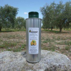 Huile d' Olive Aromatisée aux Citrons de Menton 0.25 L