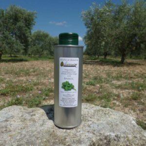 Huile d' Olive Aromatisée au Basilic 0.25 L