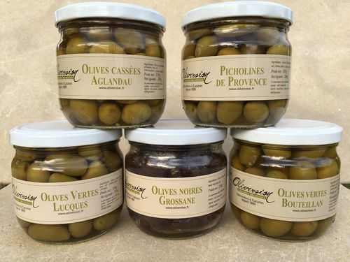 Assortiment 5 pots Olives