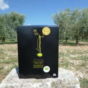 Huile Olive AOC Provence Bio Fruité Vert BIB 3L