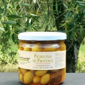olives vertes picholine a la sauce pimentee 200g